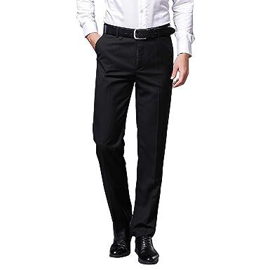 Fashion Men Casual Pant Stretch Straight Leg Trouser Business Dress Suit