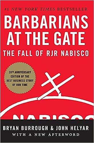 Barbaros en la Puerta: LA CAIDA DE RJR NABISCO