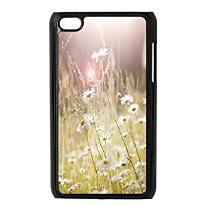 T-TGL(RQ) Ipod Touch 4 Phone Case Daisy with Hard Shell Protection