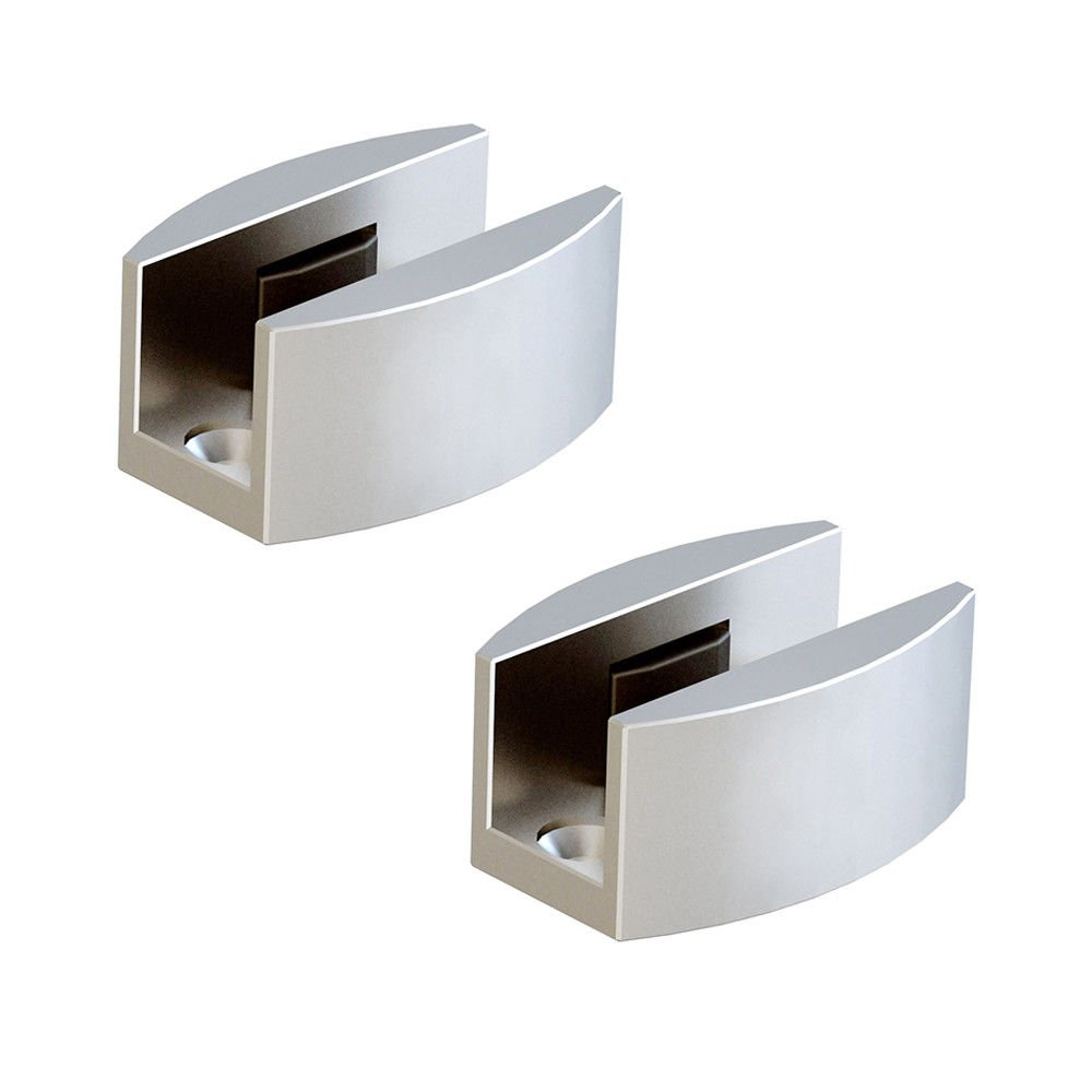 Aluminum C-Guide for Frameless Sliding Glass Door Set of 2