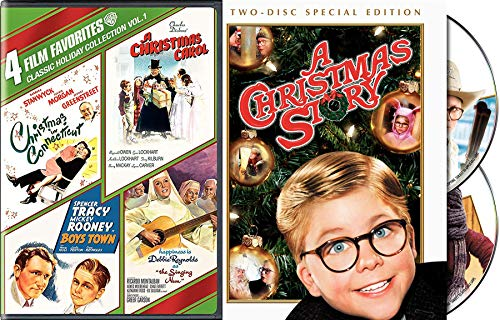 Another Christmas Story Documentary & Movie DVD Holiday Heart Connecticut Charles Dickens Carol Singing Nun 5 Pack / Boys Town / Hapiness is Debbie Reynolds Singing / Barbara Stanwyck Special Edition