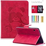 Kindle Voyage 6'' Case, LittleMax(TM) PU Leather Panda Embossed Wallet Case Protective [Magnetic Closure] Cover for Amazon Kindle Voyage (Will only fit Kindle Voyage 2014) -01 Rose