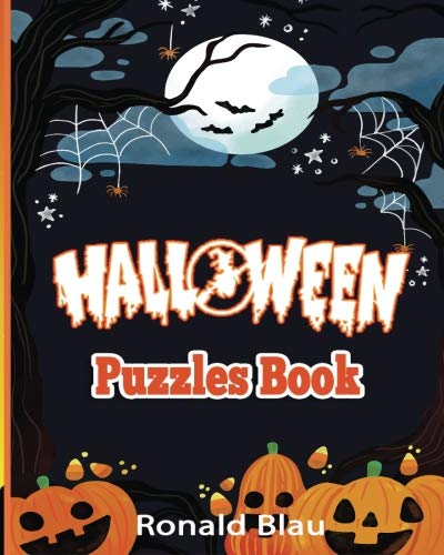 Halloween Puzzles Book: Halloween Word Searches, Cryptograms, Alphabet Soups, Dittos, Piece By Piece Puzzles All You Want to Challenge to Have a Happy Halloween and Keep Your Brain Young (Volume 2)]()