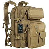 Tactical Backpack - G4Free Military Tactical Molle Backpack Sport Outdoor versatile Rucksacks Camping Hiking Traveling Bag 40L(Tan)