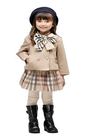 b8518862737d0 iikuru 女の子 フォーマル ワンピース ベージュ チェック柄 コート セット 120 サイズ   子供 子ども こども ドレス
