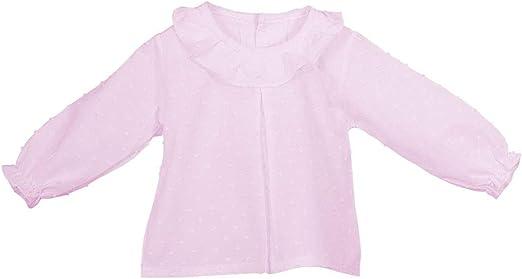 Entre 6 Meses y 2 a/ños Blusa Plumetis Blanco para ni/ñas y beb/és