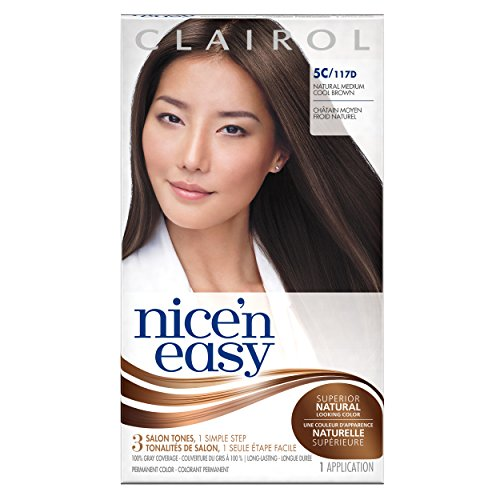 Clairol Nice 'N Easy Hair Color 117d Natural Medium Cool Brown 1 Kit (Pack of 12) by Clairol