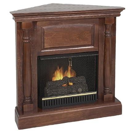 Amazon.com: Real Flame Pillar Indoor Ventless Corner Fireplace - Oak ...