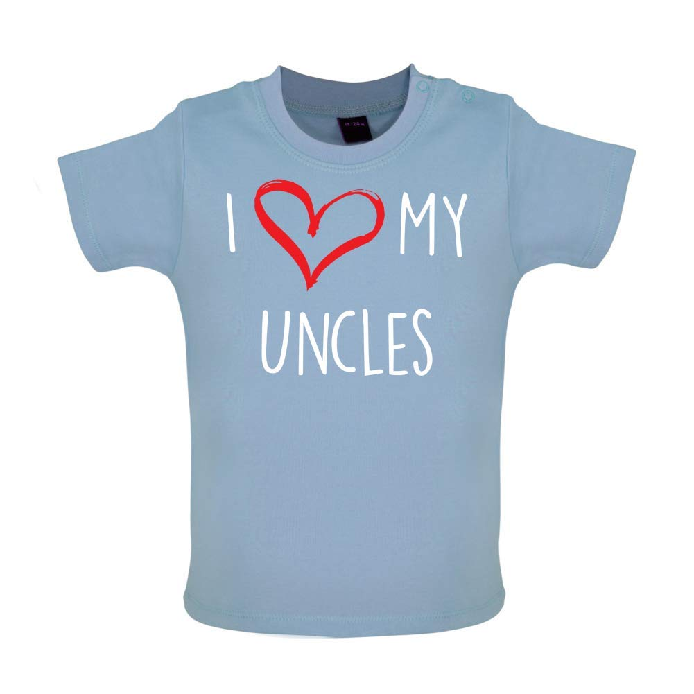 Baby T-Shirt I Love My Uncles 7 Colours 3-24 Months