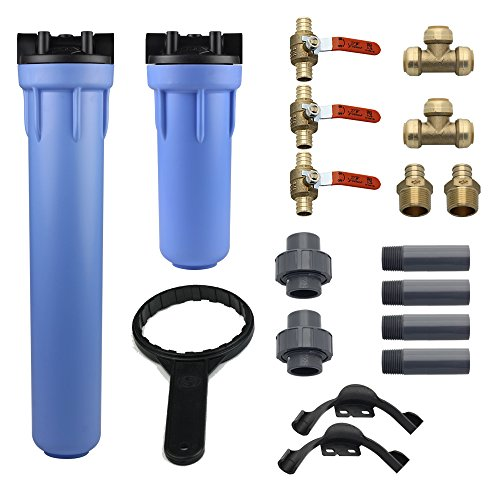 10-Year, 1,000,000 Gallon Whole House Water Filter with Professional Installation Kit