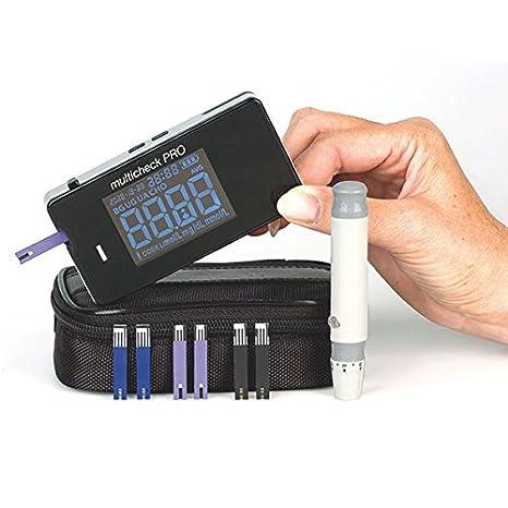 Lifetouch Multicheck PRO - 3 en 1 - Glucosa, Ácido úrico y Cholesterol┇Triple sistema del diagnóstico para la personal Control de sí mismo y Consultorio ...
