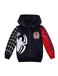 Nine Minow Boys Sweatshirt Children Spider-Man Pullover Hoodies Coat