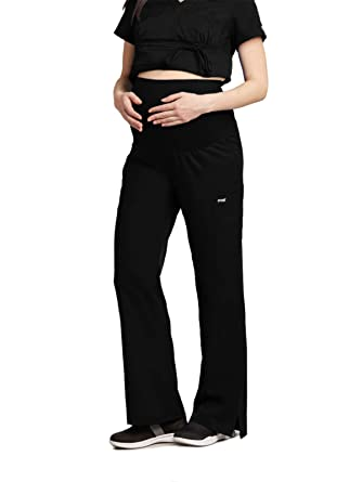1a728937b62b6 Amazon.com: Grey's Anatomy Maternity Pant for Women - Flare Leg Medical  Scrub Pant: Clothing
