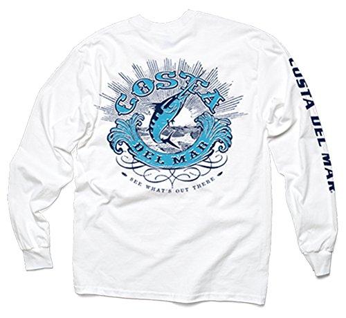 Costa Del Mar Classic Long Sleeve T-Shirt, White, Medium