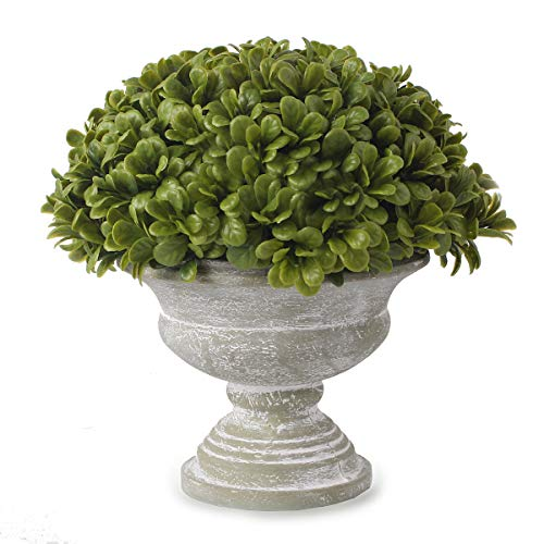 Blooming Paradise The Fake Plant Topiary Ball Boxwood Ball with Grecian Urn for Bathroom/Home Office Decor, Small Artificial Faux Greenery for House Decorations (Potted - Hydrangea Topiary