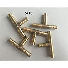 """5Pcs 8mm 5/16"""" Tee 3 Way Hose Barbed Connector Air Fuel Water Pipe Gas Tubing"""