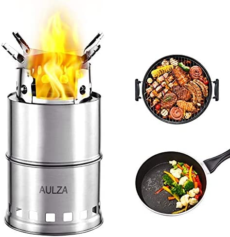 AULZA Backpacking twig Stove for Camping Fishing Hiking