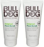 Cheap Bulldog Skincare Original Face Scrub For Men (Pack of 2) With 8 Essential Oils, Oat Kernel, Shea Butter and Olive Seed, 4.2 fl. oz.