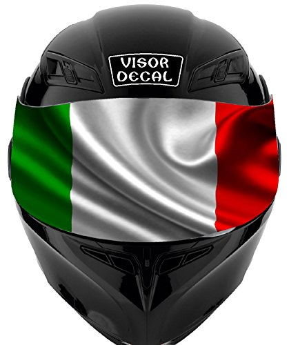 V22 Italian Flag VISOR TINT DECAL Graphic Sticker Helmet Fits: Icon Shoei Bell HJC Oneal Scorpion AGV