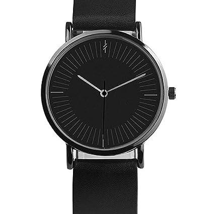 Scpink Reloj para Mujer, Reloj de Cuarzo Simple y Elegante Caja de Acero Inoxidable Simulación