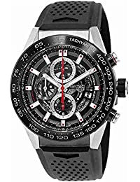 Carrera Calibre Heuer 01 Automatic Skeleton Dial Mens Watch CAR2A1Z.FT6044