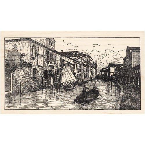 Venice Italy Scene Rubber Stamp