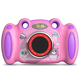 "Campark Kids Cameras for Girls Boys Birthday for Age 4-8 Dual Selfie, 2"" Screen Record Video Photo Play Games, Shockproof Children Digital Camera for Toddler Elementary Students"