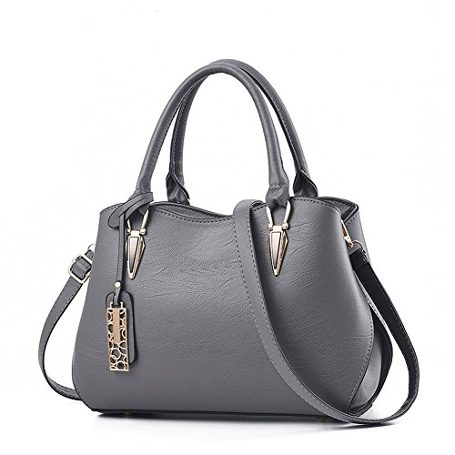 Women Grey Portable Bag Handbag Ladies Messenger Zonlin Casual for Shoulder Bags 64awSqOOx