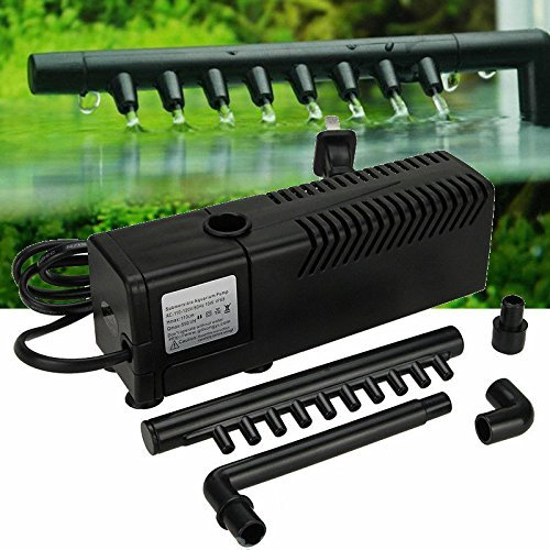 Multi-Functional 3 in 1 Portable Aquarium Internal Filter Water Pump for Fish Tank and Turtles 110V/60Hz 50 Gallon 210 GPH Vacuum Aquariums Pumps IP3 (Tank Turtle Filtration)