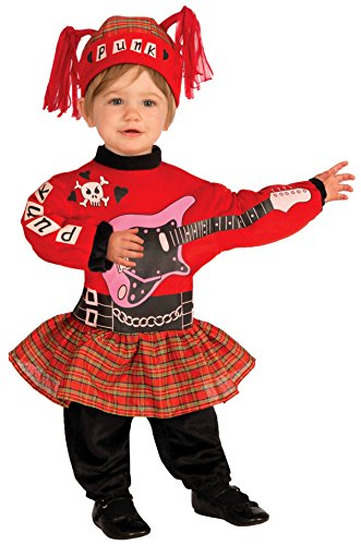 [Forum Novelties Baby Boy's Lil' Rock Star Punk Baby Girl Costume, Multi, Infant] (Girl Rock Stars Costumes)
