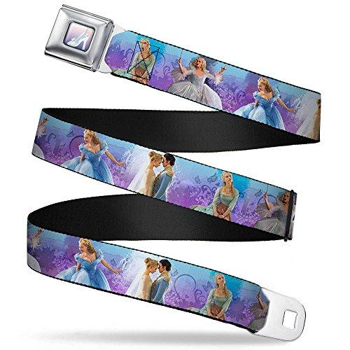 Cinderella'S Glass Slipper Full Color Cinderella Movie Scenes Blue Purple Seatbelt Belt Kids