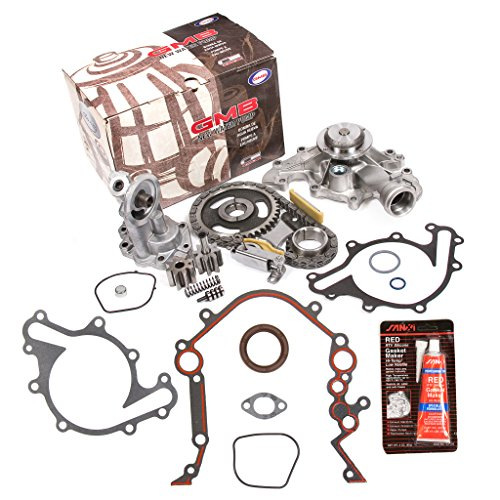 Evergreen TKTCS20500WOP2 Fits 96-04 Ford Freestar Windstar Mercury 3.8L OHV 12 Valves Timing Chain Kit Oil Pump Water Pump Timing Cover Gasket -