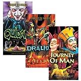 """Coffret Cirque du Soleil : Quidam, Dralion, Journey of a Man"""