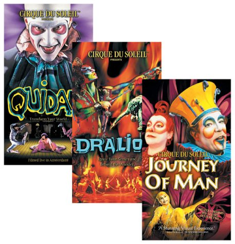 Cirque du Soleil 3-Pack (Quidam / Dralion / Journey of Man) [VHS]