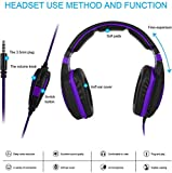 Wired Over Ear Stereo Gaming Headset Headband