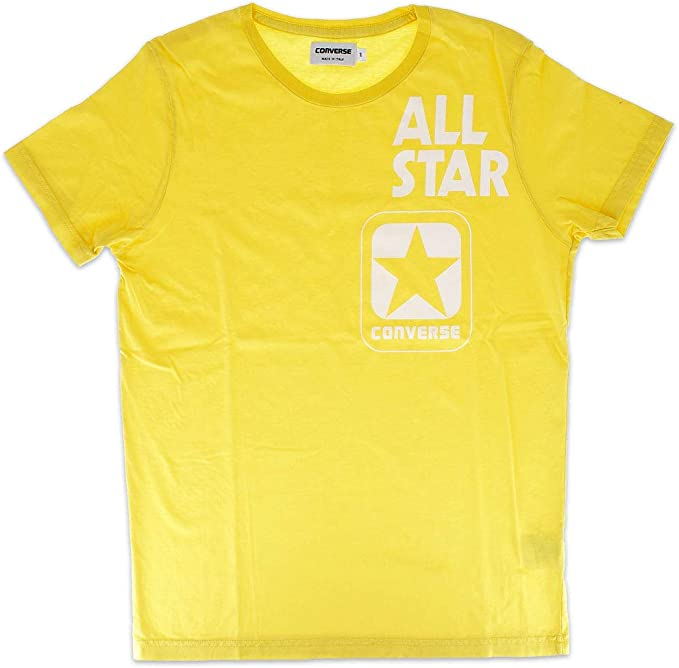 Converse T Shirt Uomo Crew Logo Shoe Box: Amazon.it