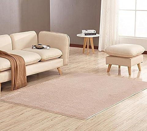 YOFAN 2.6-Feet By 3.9-Feet Modern Shag Area Rug,Super Soft Living Room/Bedroom/Kitchen Carpet,4Cm Wool Length (2.6-Feet By 3.9-Feet (Big Circle White Fur Rug)