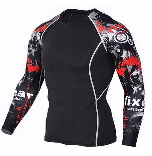 OBHDGVWN UFC Ropa de compresión Camiseta Funcional para Hombre ...