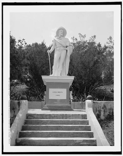 Photo: Statue,Christopher Columbus,governor's residence,Nassau,Bahama (Christopher Columbus Map For Kids)