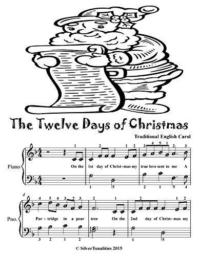 Christmas Day Sheet Music - The Twelve Days of Christmas Easy Piano Sheet Music Tadpole Edition