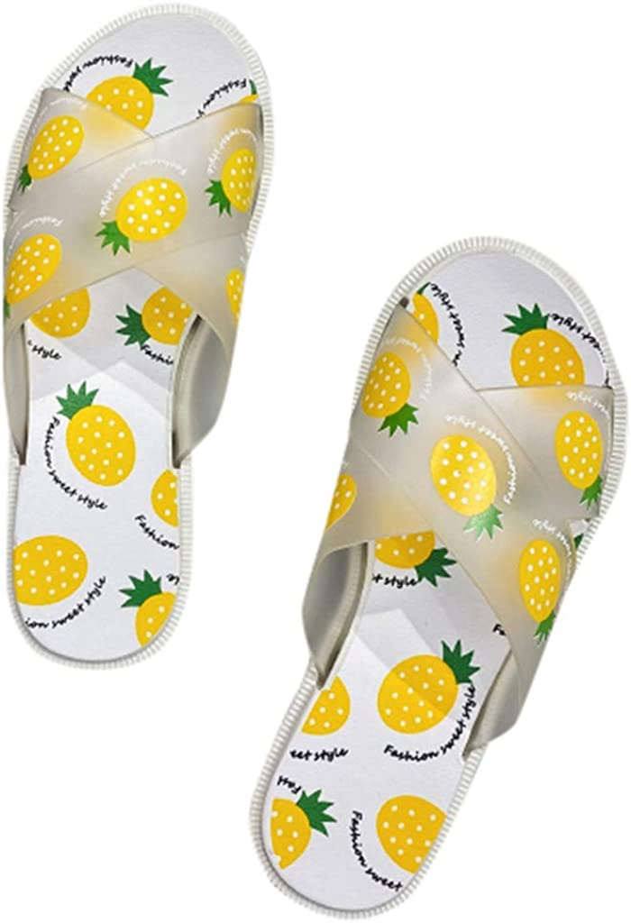 Womens Beach Slide Sandal Womens Kids Jelly Summer Slide Sandals Flip Flops Boys Girls Water Shoes Cute Fruit Slippers