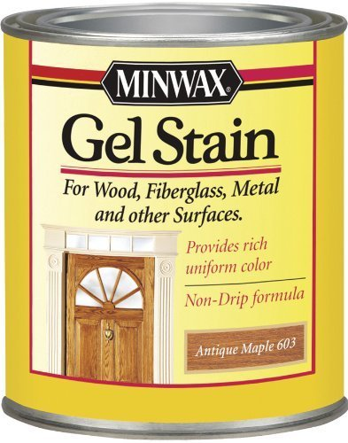 Minwax 26030 1/2 Pint Gel Stain Interior Wood, Antique Maple by Minwax - Antique Maple