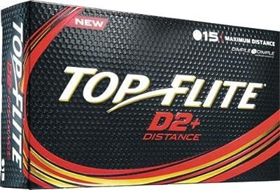 Top Flite D2+ Distance Golf Balls (15 Pack)