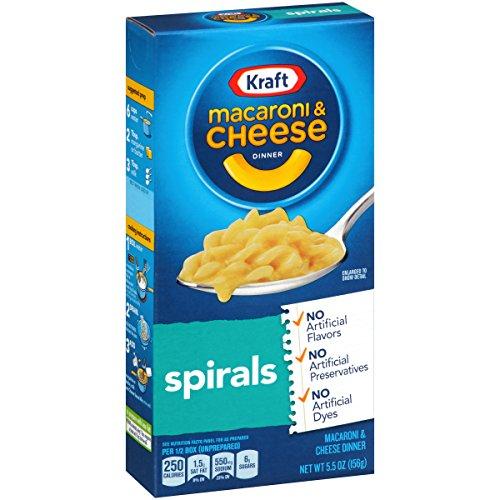 Kraft Macaroni & Cheese Dinner, Spirals, 5.5 Ounce (Cheese Dinner)