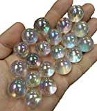 JIC Gem Angel Aura Quartz Crystal Ball 20pcs 3/4inch Size Sphere Real Clear Quartz Gemstone, Chakra Healing Metaphysical From Real Clear Quartz