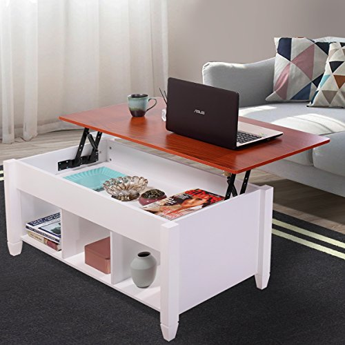 Jaxpety Lift Top Coffee Table Adjustable Height Storage