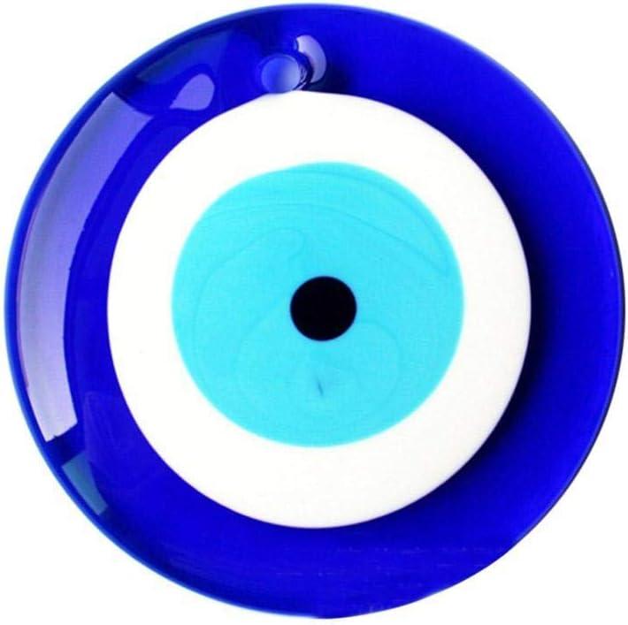 2.5cm Snow Island Amulette de Protection Contre Le Mauvais /œil en Verre Bleu Turc pour Mur de la Maison de la Voiture du Bureau