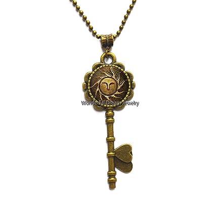 Collar con llavero con diseño de llave, sencillo y diario ...