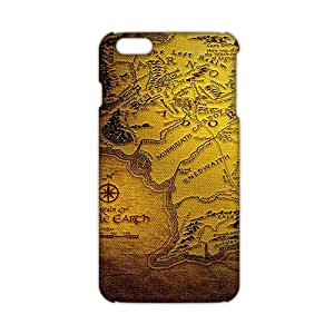 Slim Thin The Lord of the Rings Map Phone Case for iPhone 6 Plus