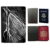 Hello-Mobile Flip PU Leather Travel Passport Wallet Case with Flight Ticket Slots // M00137023 Cobweb Spider'S Web Spiderweb Web // Universal passport leather cover offers